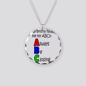 Always Be Closing - Grandpa Necklace Circle Charm